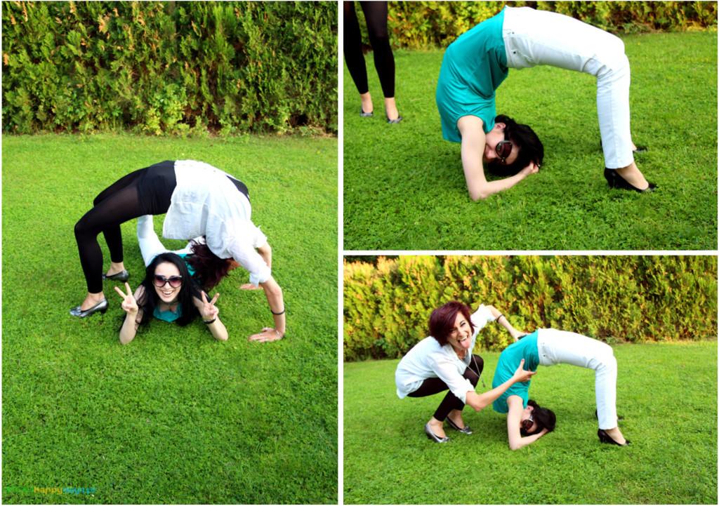 elegancka gimnastyka na trawie
