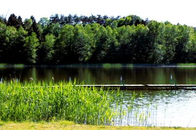 jezioro w letni upalny dzień